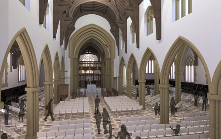 vHH's Reordering plans for Leicester Cathedral are approved by the Cathedrals Fabric Commission for England