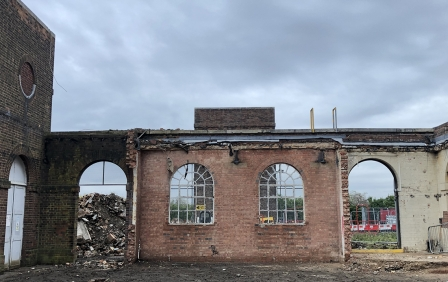 Uncovered by demolition works…