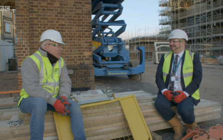 BBC's Dom Digs In visits our Houlton School site